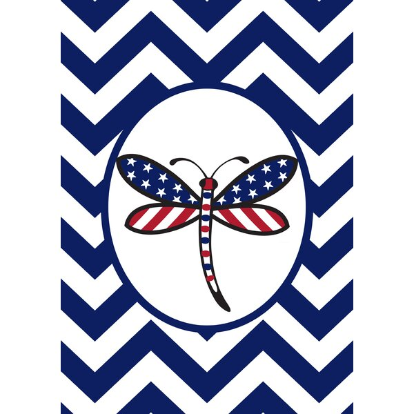 Patriotic Dragonfly 2-Sided Garden flag by Toland
