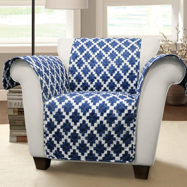 Wellow Ikat T-Cushion Armchair Slipcover By Winston Porter