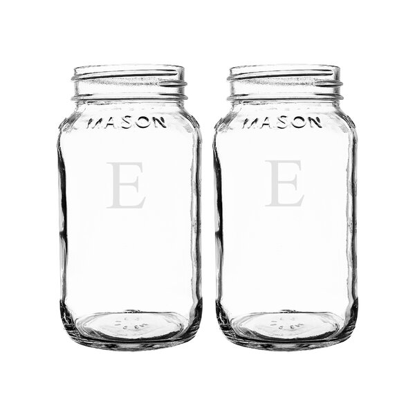 Personalized  Mason Jar (Set of 2) by Cathys Conce