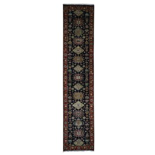 Comparison One-of-a-Kind Ballentine Hand-Knotted Silk Black Area Rug By Isabelline