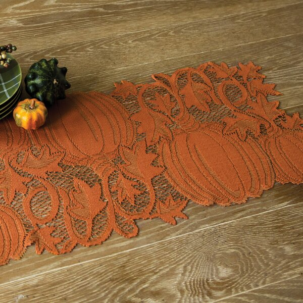 Lyndora Pumpkin Vine Runner by Darby Home Co