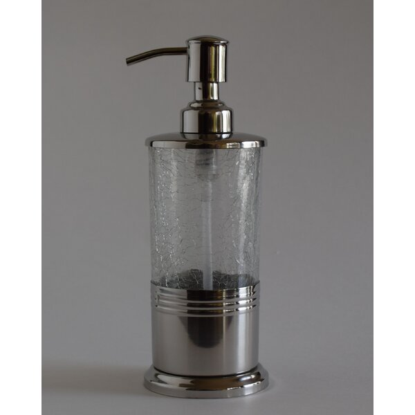 Guy Hand Crafted Crackle Glass Soap Dispenser by The Twillery Co.