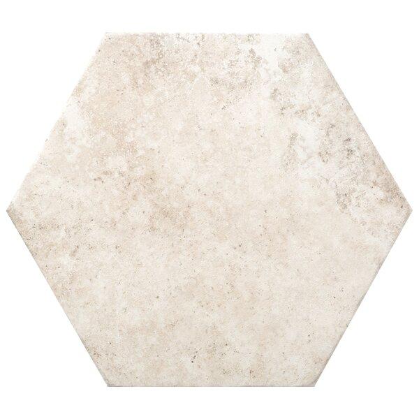 Newberry Hexagon 10 x 11 Porcelain Field Tile in Bianco by Emser Tile