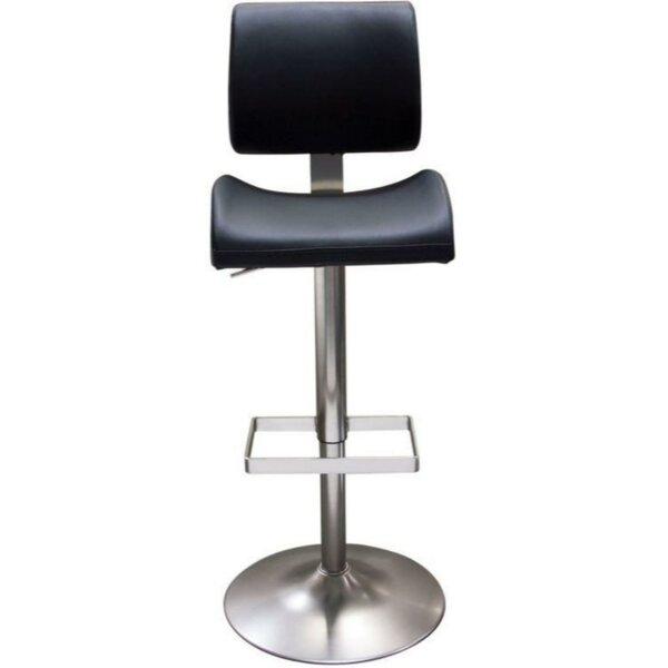 Jaina Leatherette Upholstered Adjustable Height Bar Stool by Orren Ellis