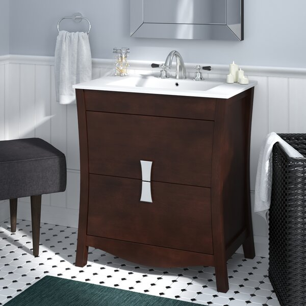 Cataldo Wood Floor Mount 30 Single Bathroom Vanity Set by Royal Purple Bath Kitchen