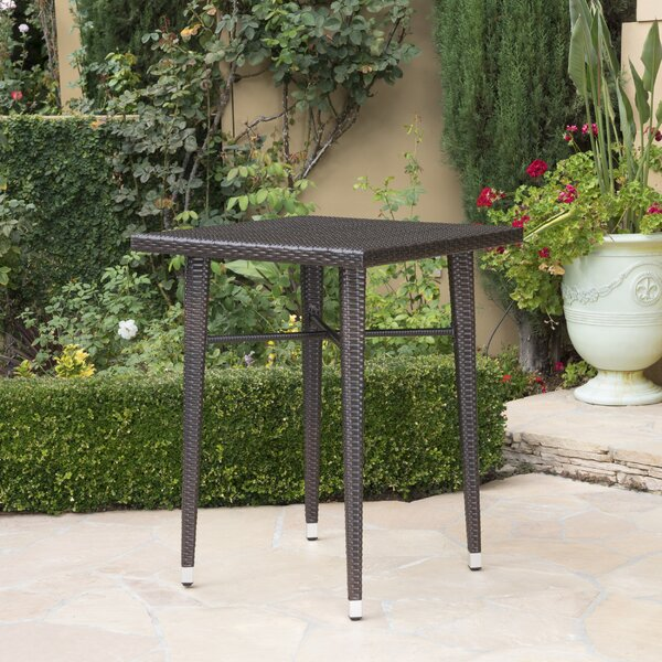 Hartwick Outdoor Wicker Bar Table by Alcott Hill