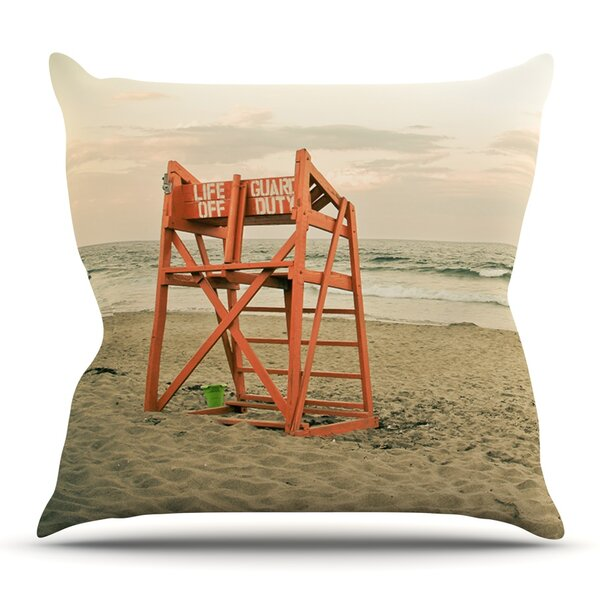 Dusk At the Beach by Debbra Obertanec Outdoor Throw Pillow by East Urban Home