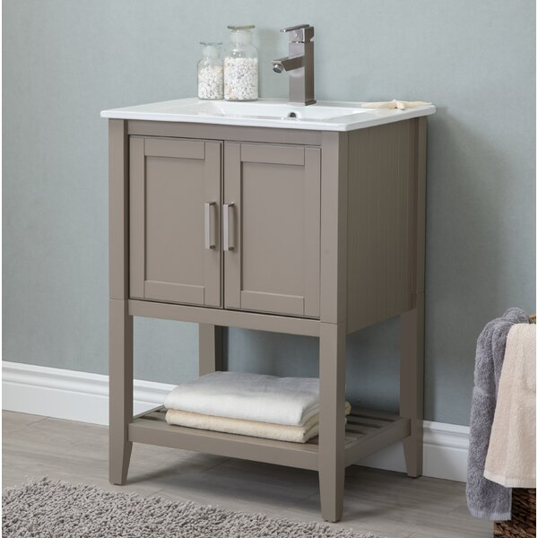 Petersburgh 24 Single Bathroom Vanity by Charlton Home