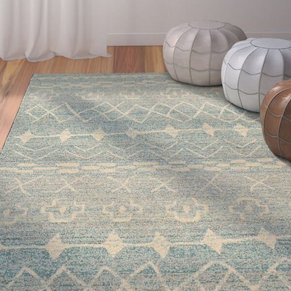 Marquis Blue/Beige Area Rug by Bungalow Rose
