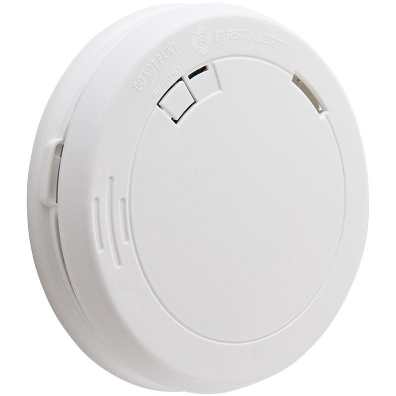 First Alert Battery Operated Photoelectric Smoke Alarm Wayfair