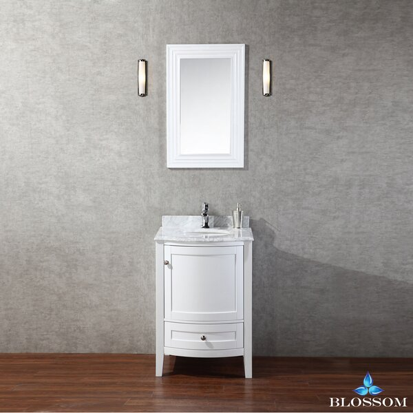Glendale 24 Single Bathroom Vanity Set with Mirror by Darby Home Co