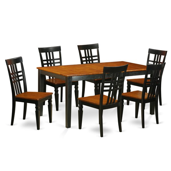 7 Piece Dining Set by East West Furniture