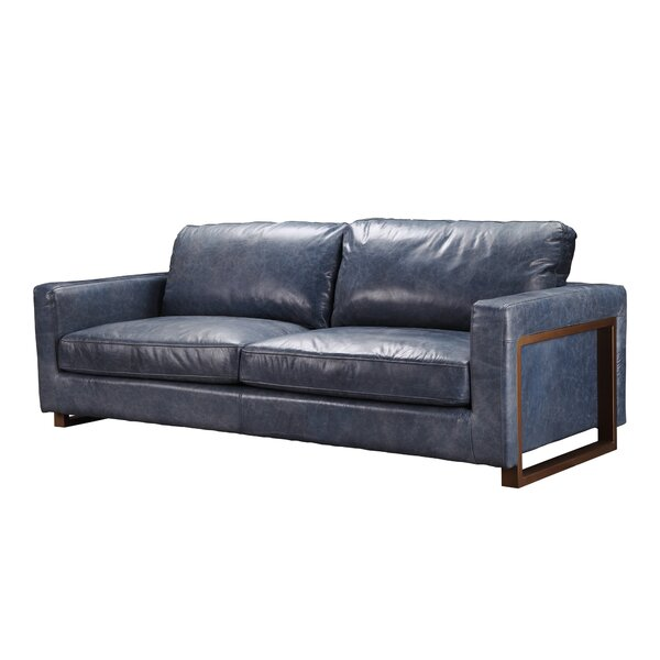 Macon Leather Sofa By Foundry Select
