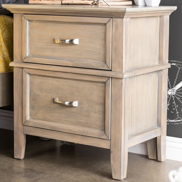 Hilliard 2 Drawer Nightstand by Loon Peak