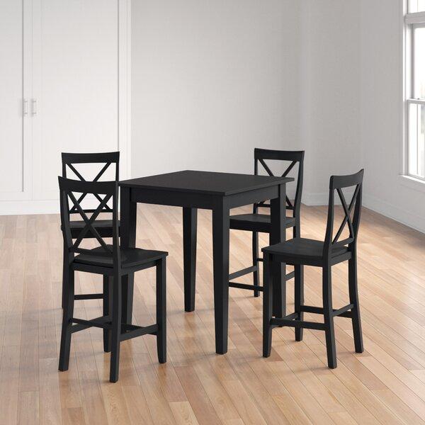 Haslingden 5 Piece Pub Table Set by Three Posts Three Posts