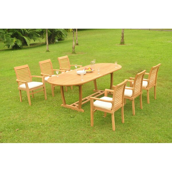 Illings 7 Piece Teak Dining Set by Rosecliff Heights
