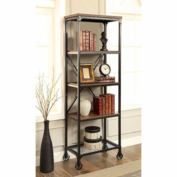 Lipman Industrial Etagere Bookcase by 17 Stories