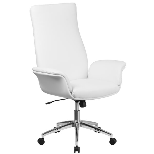 Kymmi Swivel High-Back Executive Chair by Ivy Bronx
