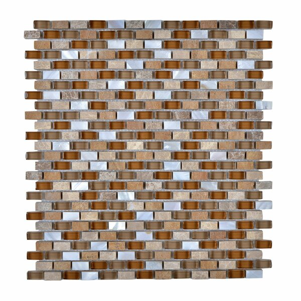 Stone and Glass Mosaic Tile in Brown by Legion Furniture
