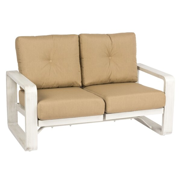 Vale Dual Rocking Loveseat with Cushions by Woodard