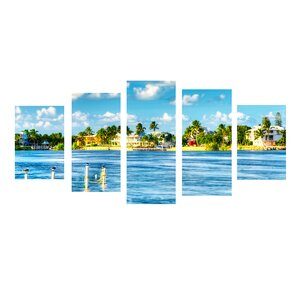'Key's Canal' by Bruce Bain 5 Piece Photographic Print on Wrapped Canvas Set by Ready2hangart