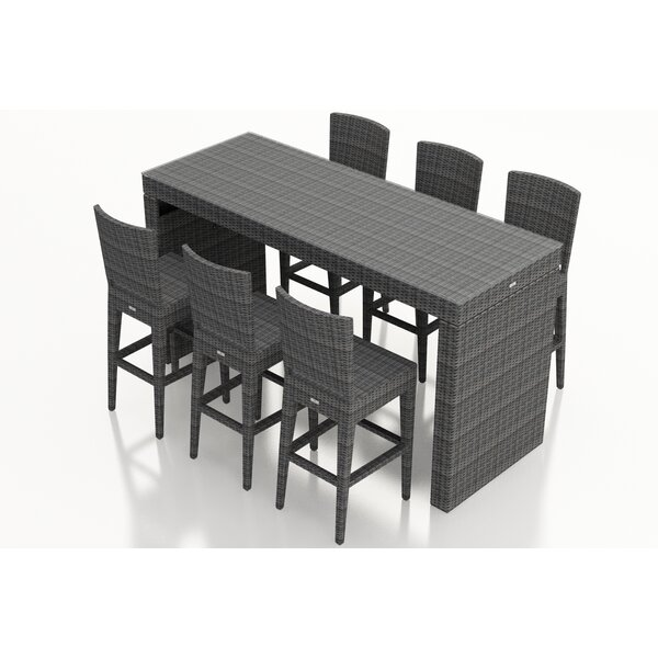 Hobbs 7 Piece Sunbrella Bar Height Dining Set by Rosecliff Heights