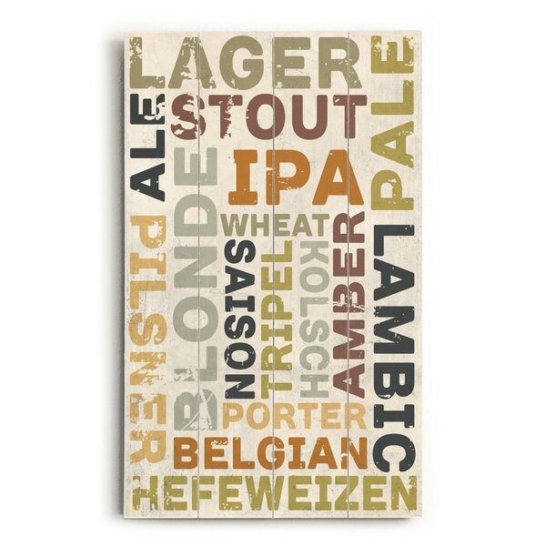Beers Wall Art by Trent Austin Design