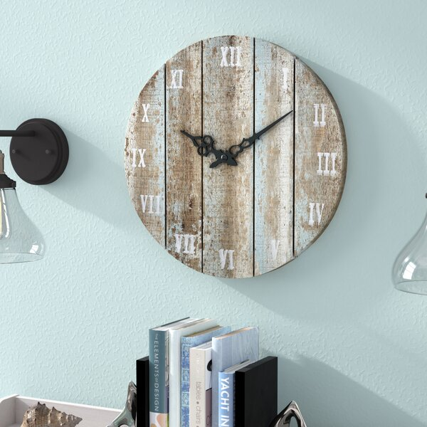 16 Round Wood Wall Clock by Beachcrest Home
