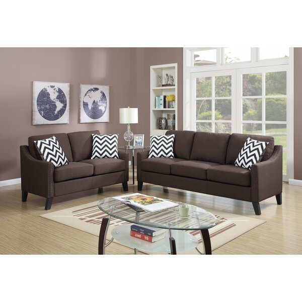 Cute Style 2 Piece Living Room Set by Infini Furnishings by Infini Furnishings