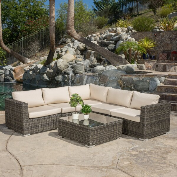 Romero 6 Piece Sunbrella Sectional Set with Cushions by Brayden Studio