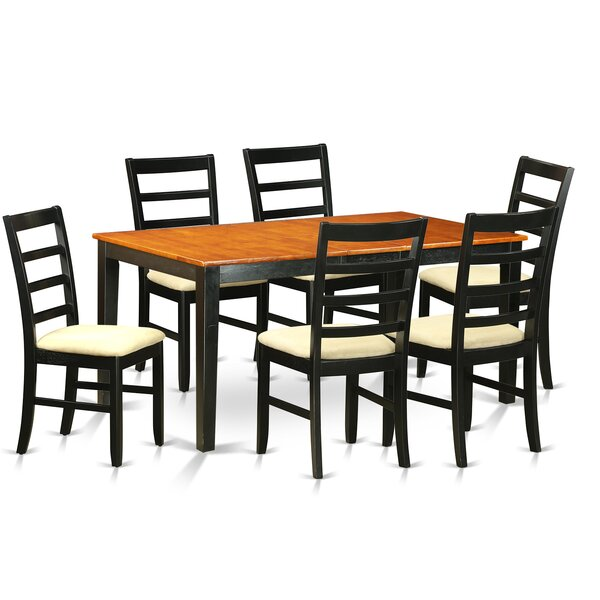 Pillar 7 Piece Wood Dining Set by August Grove