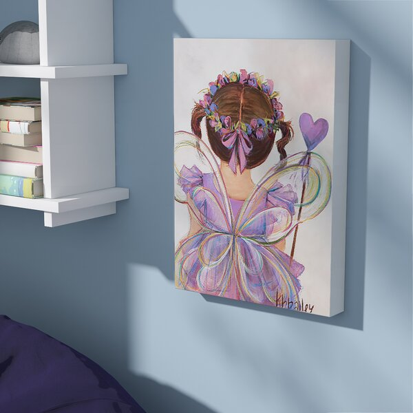 Howland Little Fairy Princess Brunette Canvas Art by Viv + Rae