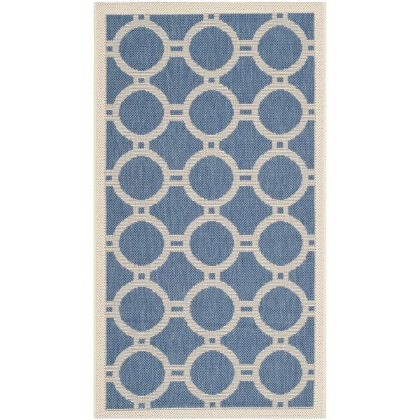 Jefferson Place Blue/Beige Indoor/Outdoor Area Rug by Wrought Studio