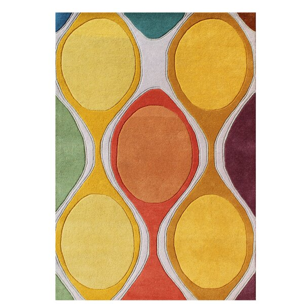 Gilland Modern Hand-Tufted Wool Yellow Area Rug by Brayden Studio