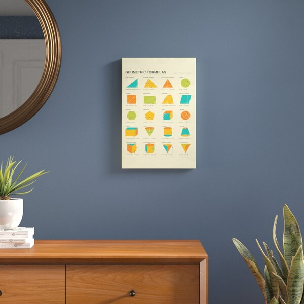 Geometric Formulas Graphic Art on Wrapped Canvas by Langley Street