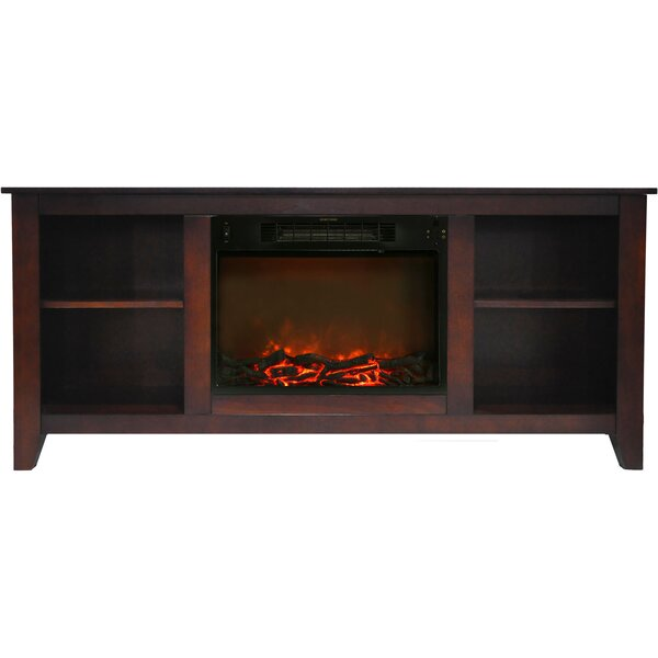 Brook Hollow Contemporary 62.8 Electric Fireplace by Alcott Hill