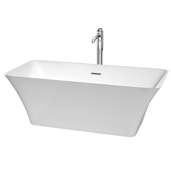 Tiffany 67 x 29.5 Soaking Bathtub by Wyndham Collection
