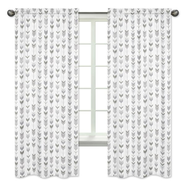 Mod Arrow Rod Pocket Window Curtain Panels (Set of 2) by Sweet Jojo Designs