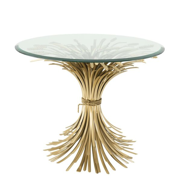 Bonheur Sheaf Wheat End Table by Eichholtz