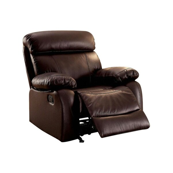 House Hay Leatherette Manual Glider Recliner [Red Barrel Studio]