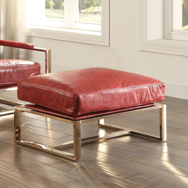 Malkesh Leather Ottoman By 17 Stories