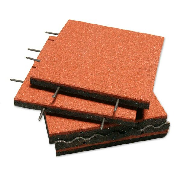 Eco-Safety Interlocking Playground Tile (Set of 40) by Rubber-Cal, Inc.