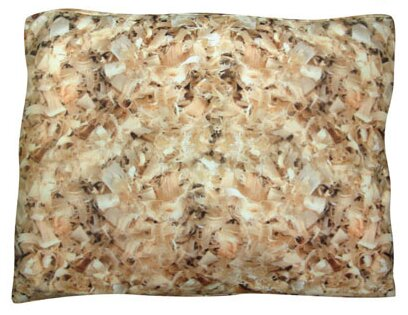 Rectangle Shavings Dog Pillow by Dogzzzz