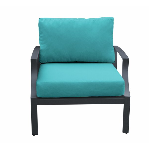 Kamp Patio Chair with Cushions by Wrought Studio