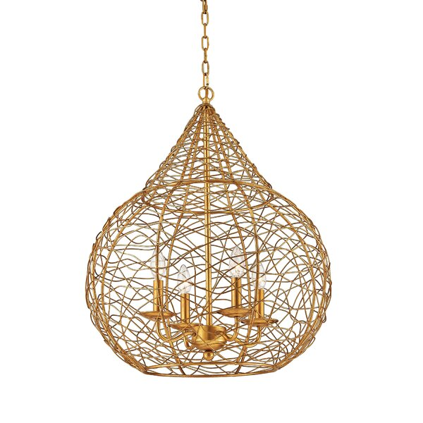 Stokesdale 4-Light Globe Chandelier by Bay Isle Home