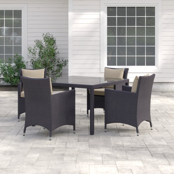 Brentwood 5 Piece Dining Set with Cushions