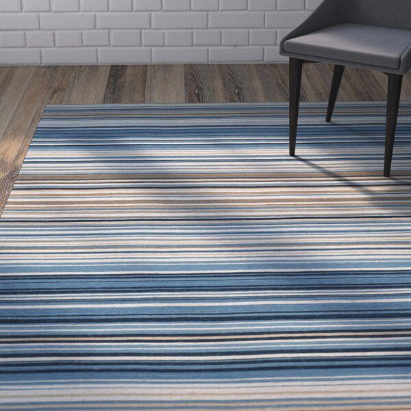 Jefferson Striped Contemporary Area Rug by Wrought Studio