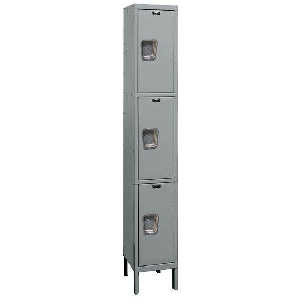Maintenance-Free 3 Tier 1 Wide Employee Locker by Hallowell
