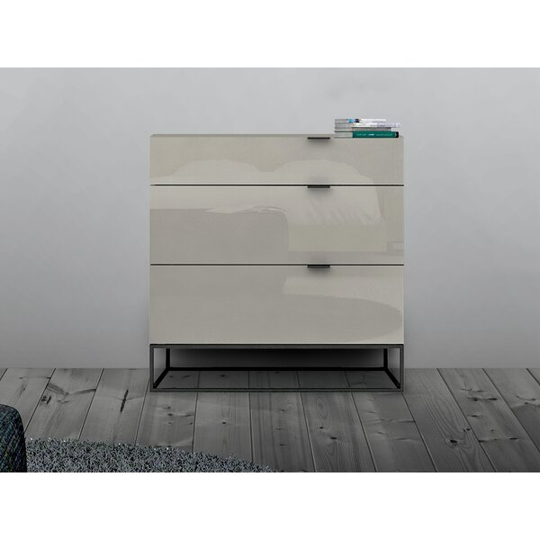 Vizzione 3 Drawer Dresser by Casabianca Furniture