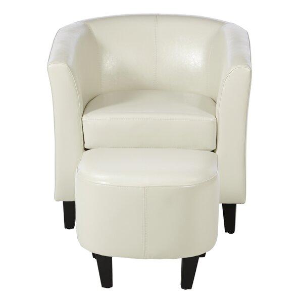 Yadiel Barrel Chair with Ottoman by Ivy Bronx